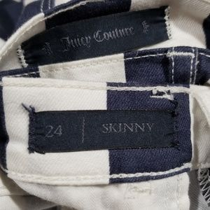 Juicy Couture Jeans - Juicy Couture Navy and White Striped Skinny Jeans